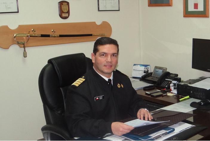 Gobernador marítimo de Puerto Montt, capitán de Navío LT, Carlos Fredes