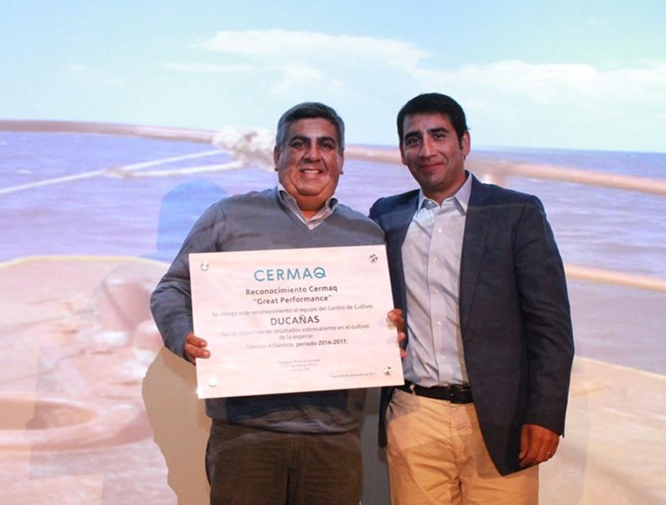 La empresa salmonicultora Cermaq premió a sus mejores centros de mar del 2017