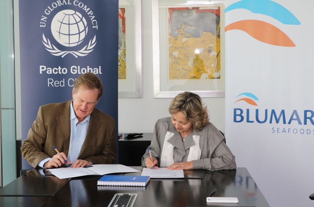 Blumar es la primera salmonera en adherir a la Red Pacto Global Chile
