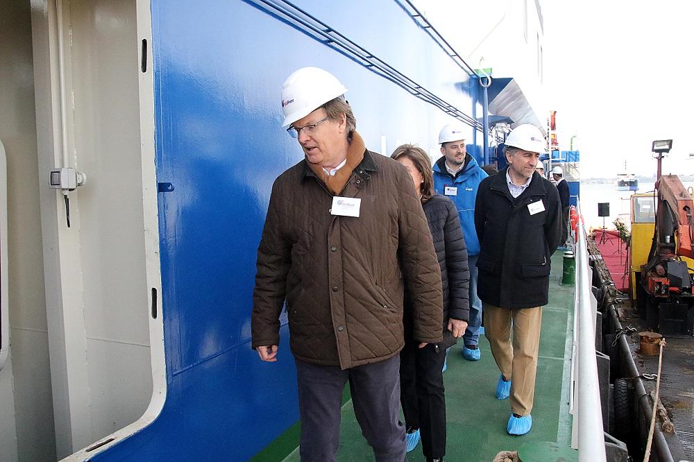 Para su filial BluRiver en Magallanes: Salmones Blumar inauguró pontón habilitado para zonas extremas