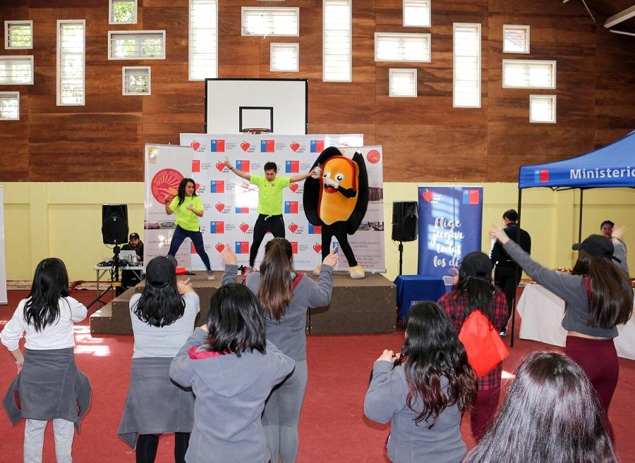 Mejillón de Chile potencia alimentación saludable en ferias de promociónde actividad física y deporte