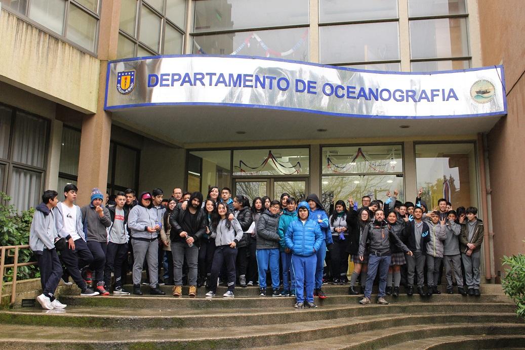 Escuelas del Borde Costero de Arauco visitaron CICAT y la UdeC