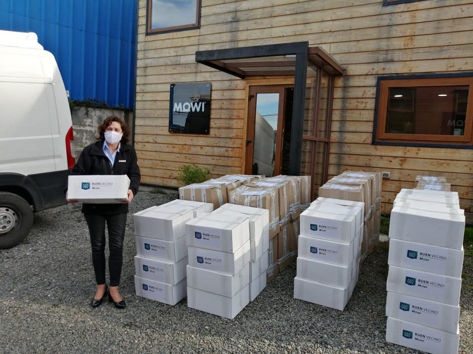 Mowi y Cargill se unen para entregar alimentos a sus comunidades vecinas